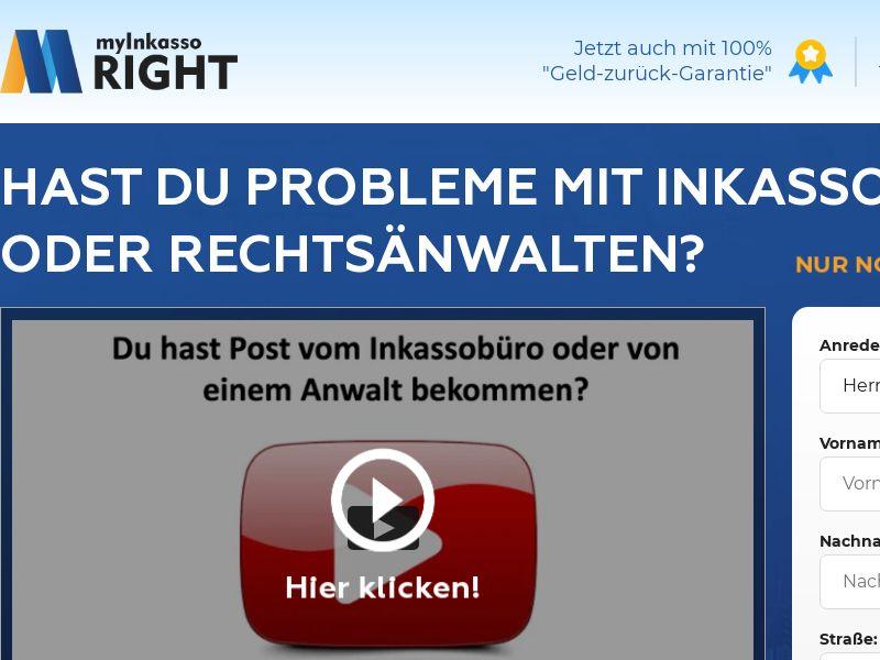 MyInkassoRight – Mobile and Desktop - DE (CPL-DOI)