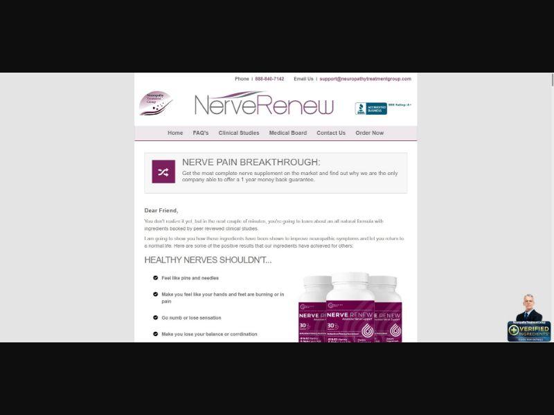 Nerve Renew - SS - [US, CA, UK, AU]