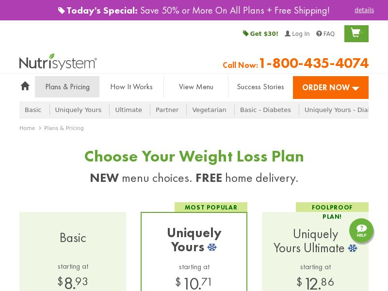Nutrisystem $80 off Uniquely Yours - US - CPS - Mobile and Desktop traffic allowed