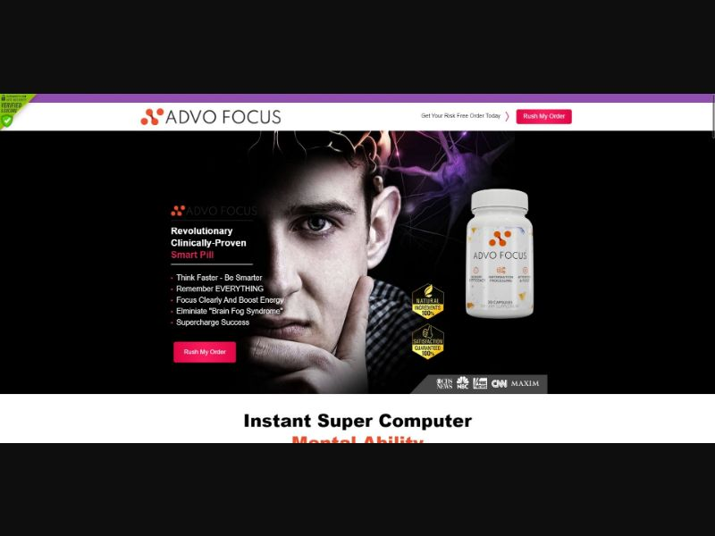 Advo Focus - Brain Enhancement - SS - NO SEO - [US]