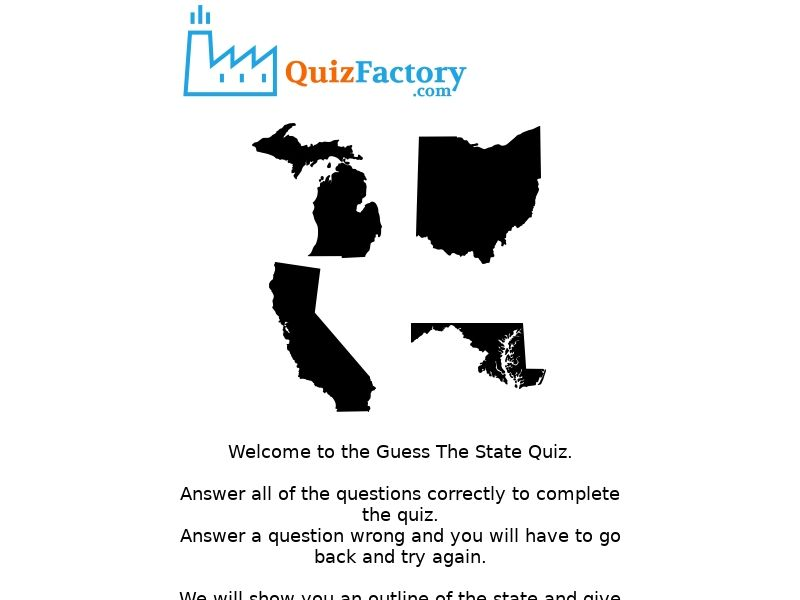 Quiz - Can You Guess These US States - US