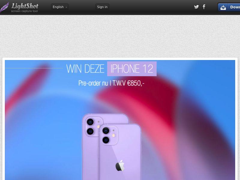 LeadsWinner - iPhone 12 Purple (NL) (CPL) (Personal Approval)