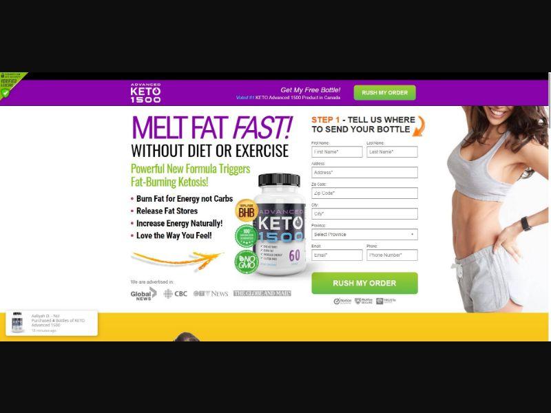 Advanced Keto 1500 - Diet & Weight Loss - SS - [CA]