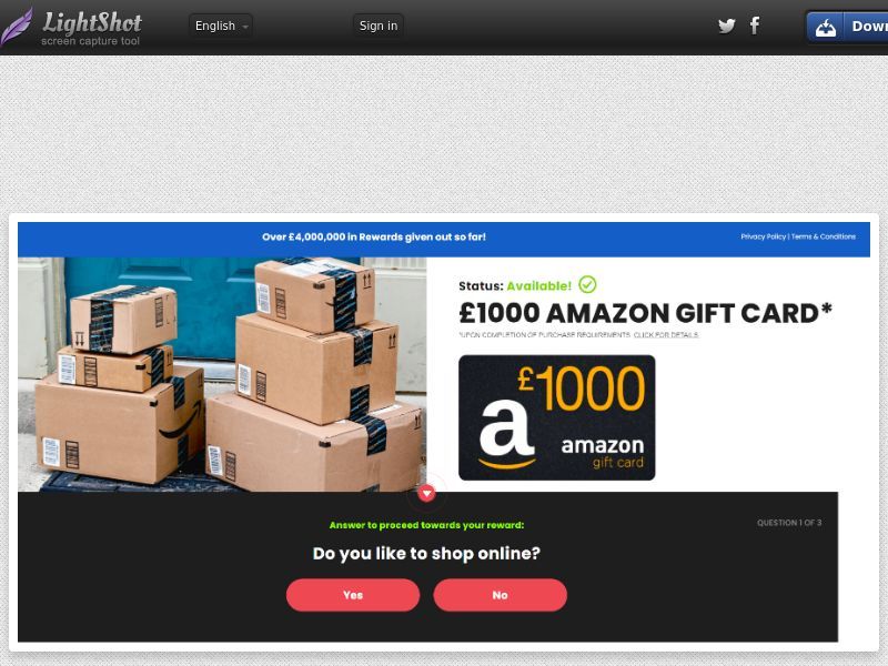 NationalConsumerCentre - Amazon £1000 Giftcard (UK) (CPL) (Personal Approval)