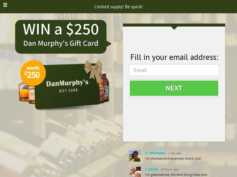 Win a Dan Murphy's gift card - AU