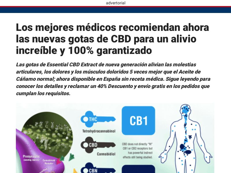 Essentail CBD - Spanish Presell [LATAM] (Email,Banner,Native,Social,Search,SEO) - CPA