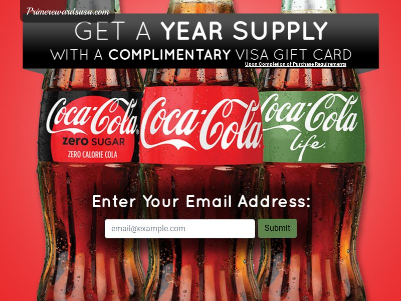 Year Supply of Coke CPL - USA (*Incent)