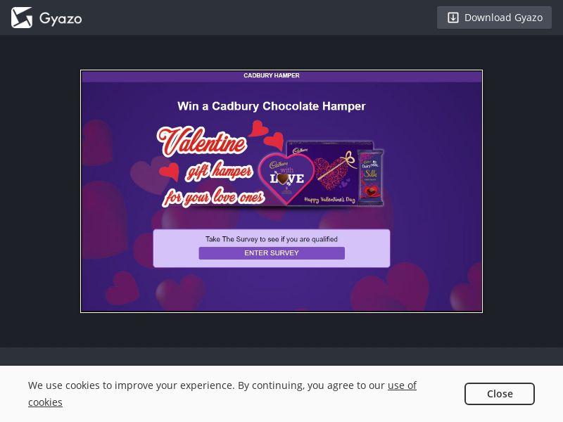 Win a Cadbury Valentine (NZ) (CPL)