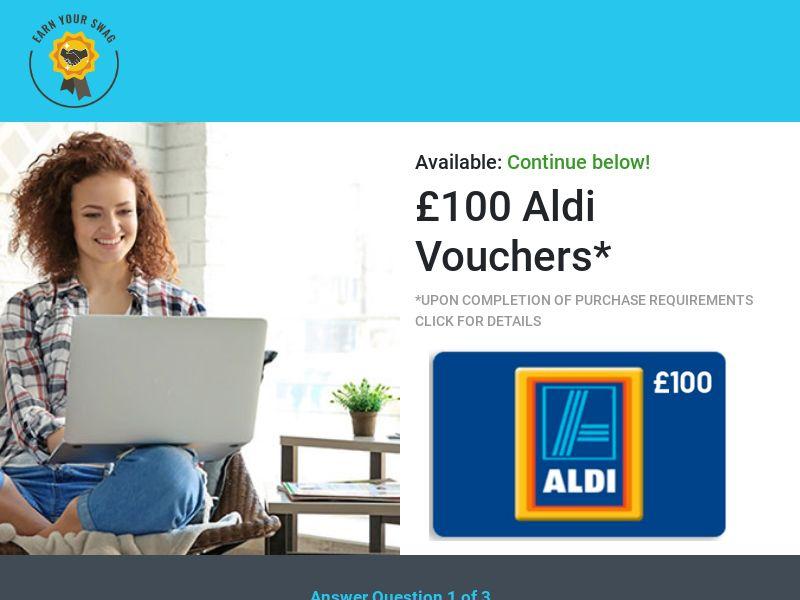 Earn Your Swag - £100 Aldi Voucher CPL [UK]