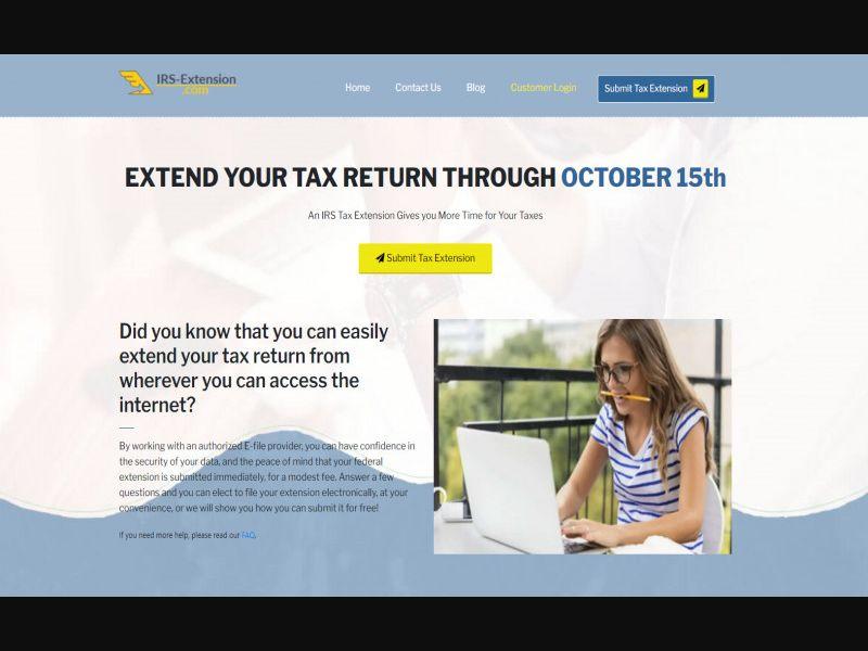 Irs Tax Extension.com - Us - Cpl -[Display