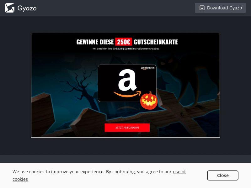 Amazon Halloween Voucher - DE