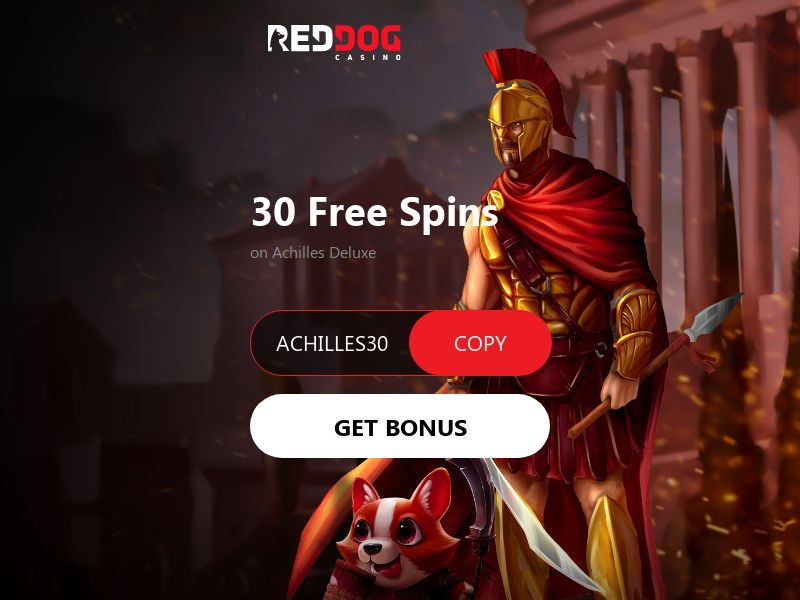 Red Dog 30 Free Spins on Achilles Deluxe - CA, US, AU