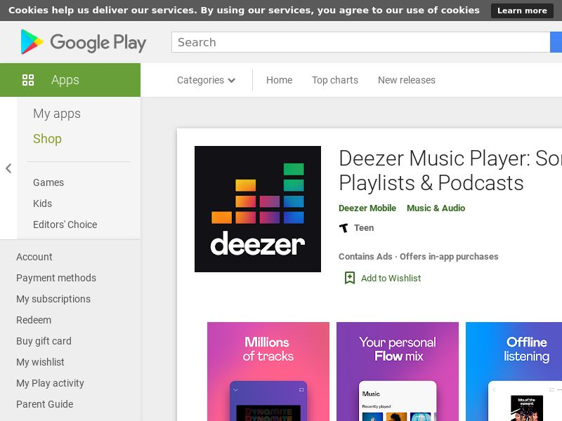 Deezer Music Player Android CPE - MX