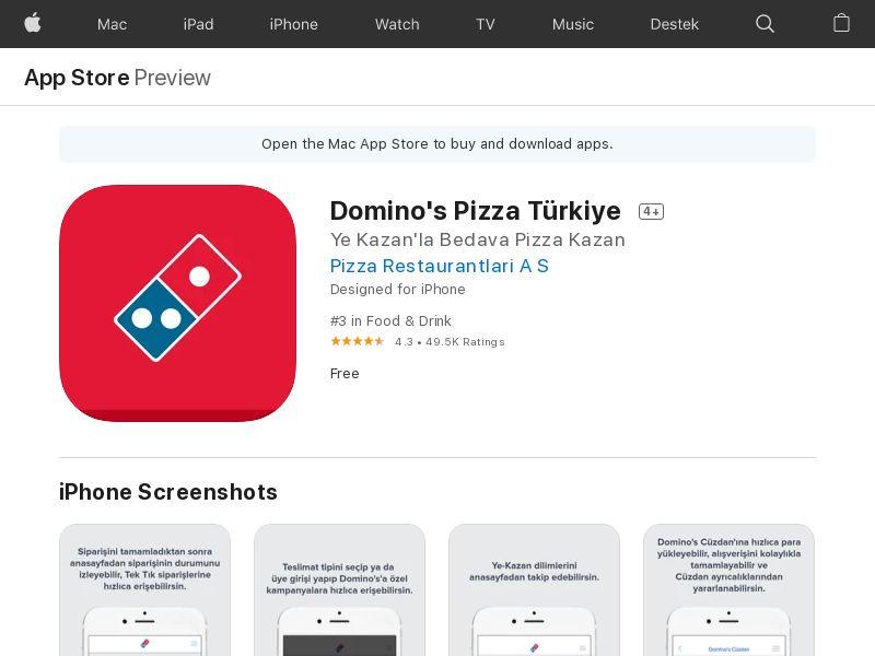 Dominos Pizza TR CPI IOS (non-incent) *KPI