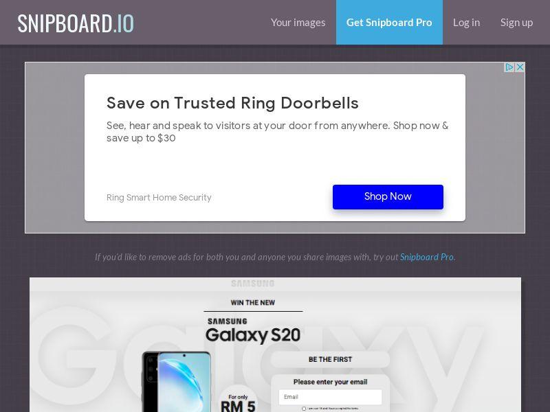 MagnificentPrize - Samsung Galaxy S20 MY - CC Submit