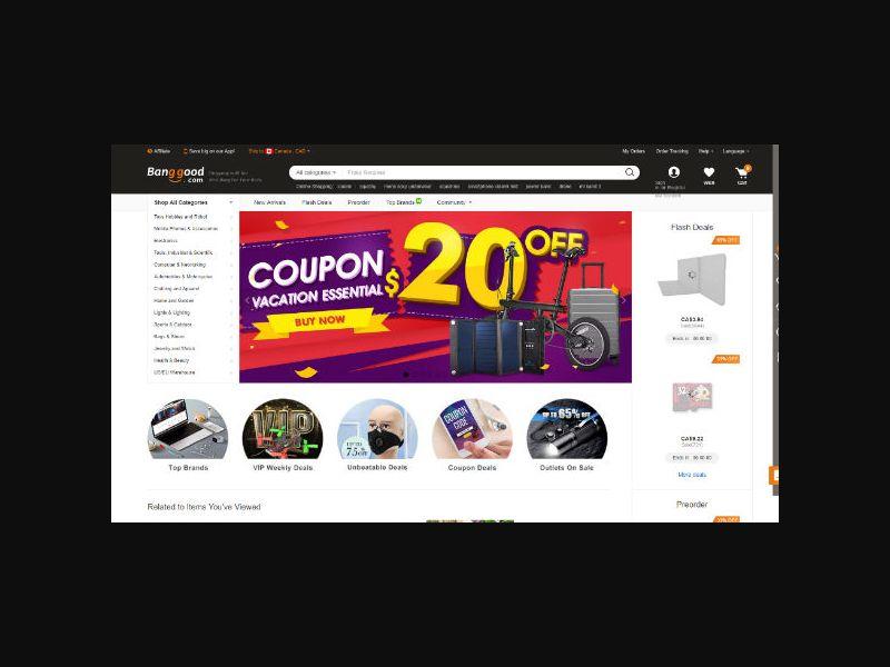Banggood - Wholesale Shopping (Worldwide)
