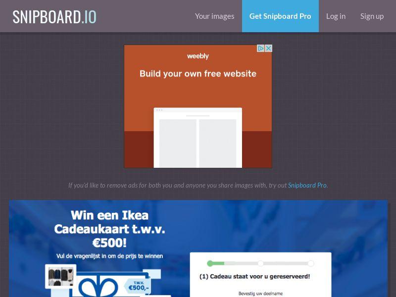 WinAds - Ikea Giftcard NL - SOI