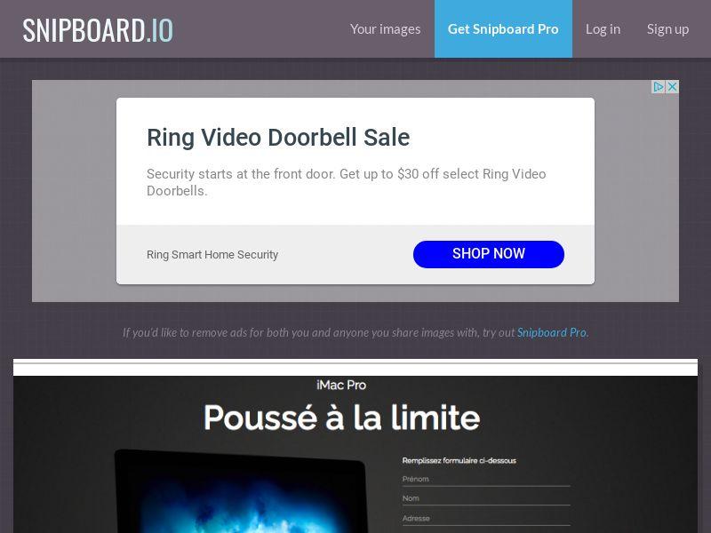 BigEntry - iMac Pro v1 FR - CC Submit