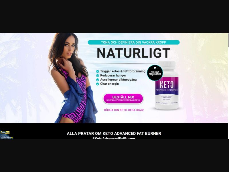 Keto Advanced Fat Burner - Diet & Weight Loss - SS - [SE]