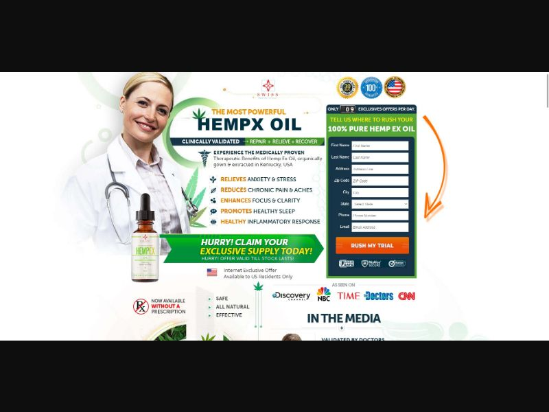 Swiss Hempex CBD Oil - V2 - CBD - Trial - [US]