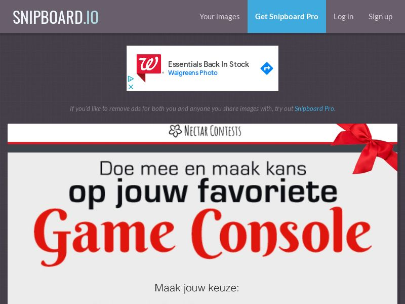 NectarContests - Gaming Console Christmas NL - SOI