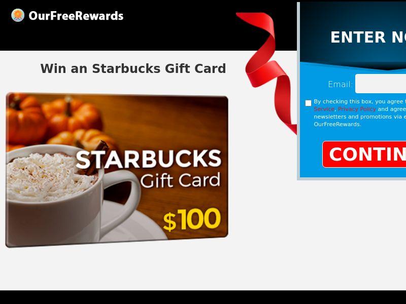 OurFreeRewards.com Starbucks Gift Card CPL US [SOI]