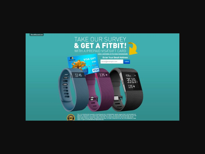 Win a Fitbit - Email Submit