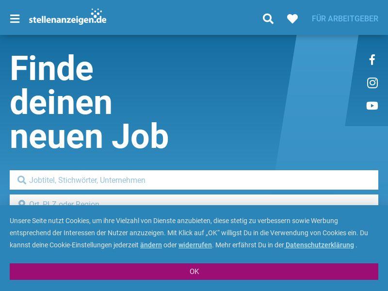 Stellenanzeige.de - Mobile and Desktop - DE - Incent OK