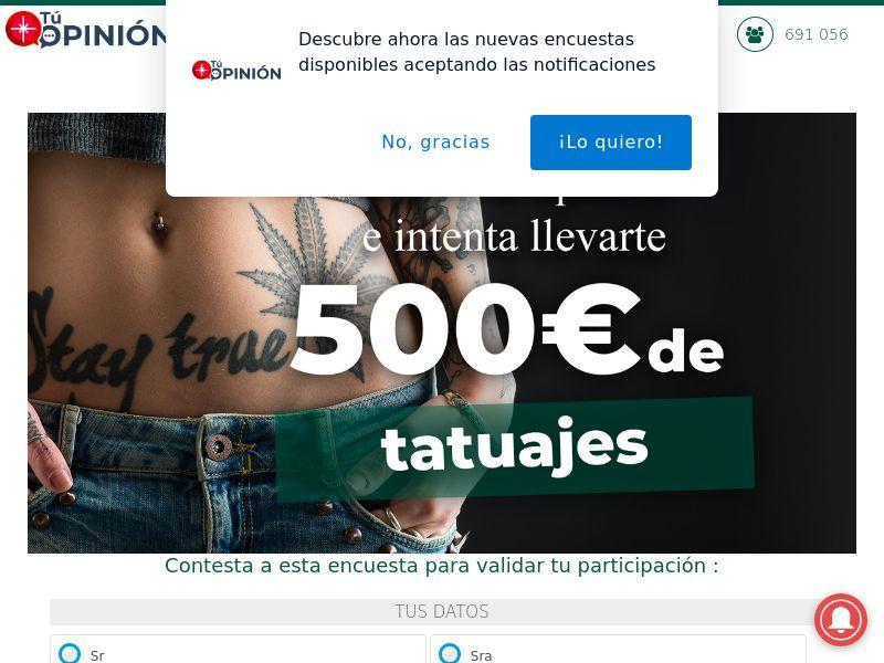 Tattoo Voucher - ES