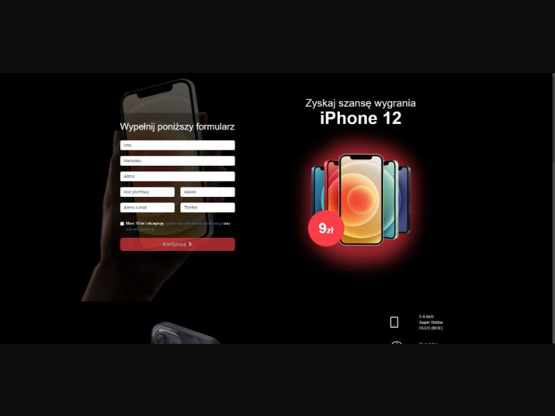 iPhone 12 - Sweepstakes & Surveys - Trial - [PL]