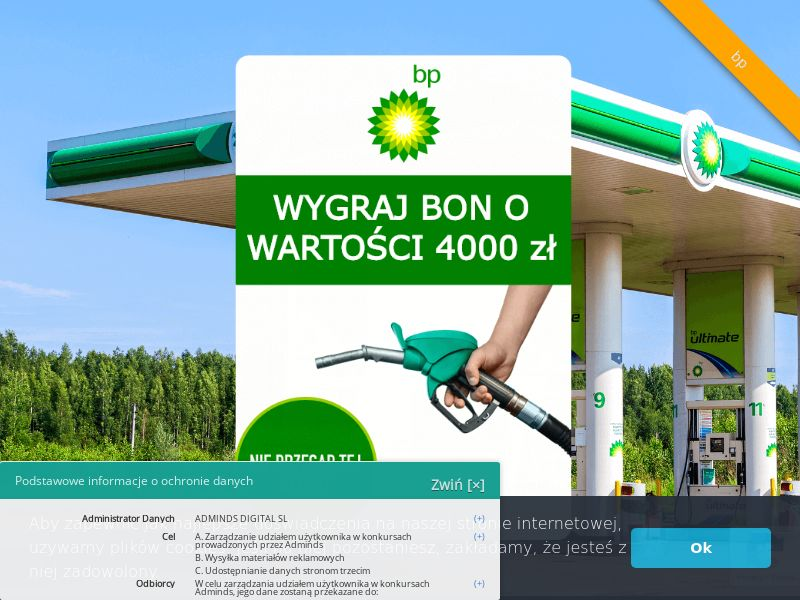 BP Darmowe paliwo (PL), [CPL], Lotteries and Contests, Services, Energy, Single Opt-In, paypal, survey, gift, gift card, free, amazon