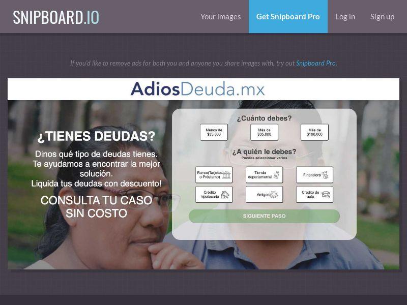 39479 - MX - Finance - AdiosDeuda.MX - SOI (daily 150 cap)
