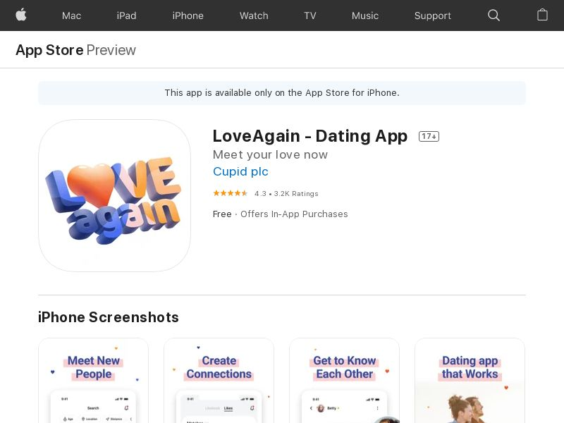LoveAgain - IOS - US CPI (redirects only with real value of IDFA)