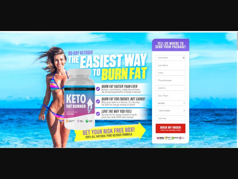 Keto Fat Burner - Diet & Weight Loss - SS - NO SEO - [CA]