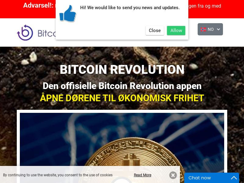 Bitcoin Revolution - NO (NO), [CPA], Business, Investment platforms, Cryptocurrencies, Deposit Payment, bitcoin, cryptocurrency, finance, money