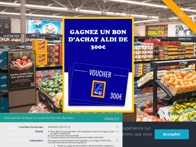 Aldi - FR (FR), [CPL], Fashion, Clothes, Health and Beauty, Food, Lotteries and Contests, Single Opt-In, shop, gift, coronavirus, corona, virus, keto, diet, weight, fitness, face mask, paypal, survey, gift, gift card, free, amazon