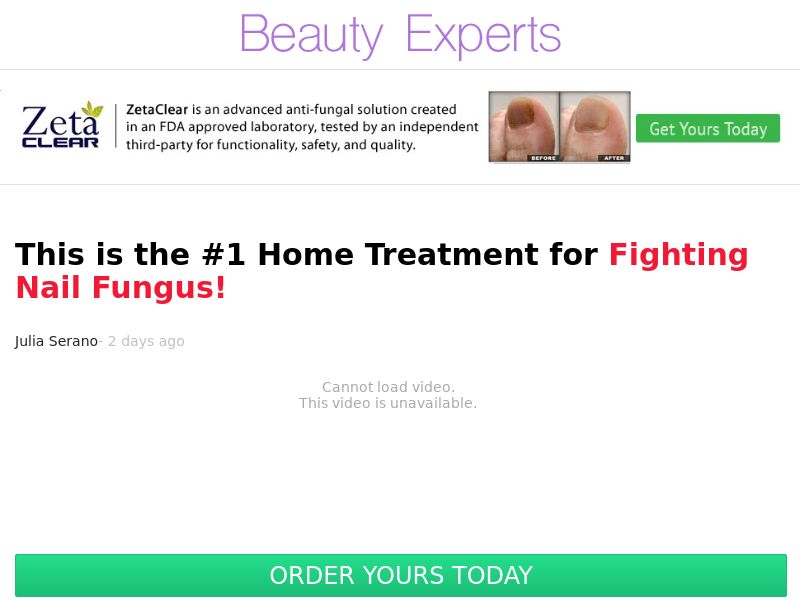 Zeta Clear Nail Fungus Solution [NAIL] - w/1CU (Bowtrol Probiotic Upsell) - CPA - Straight Sale - INTL