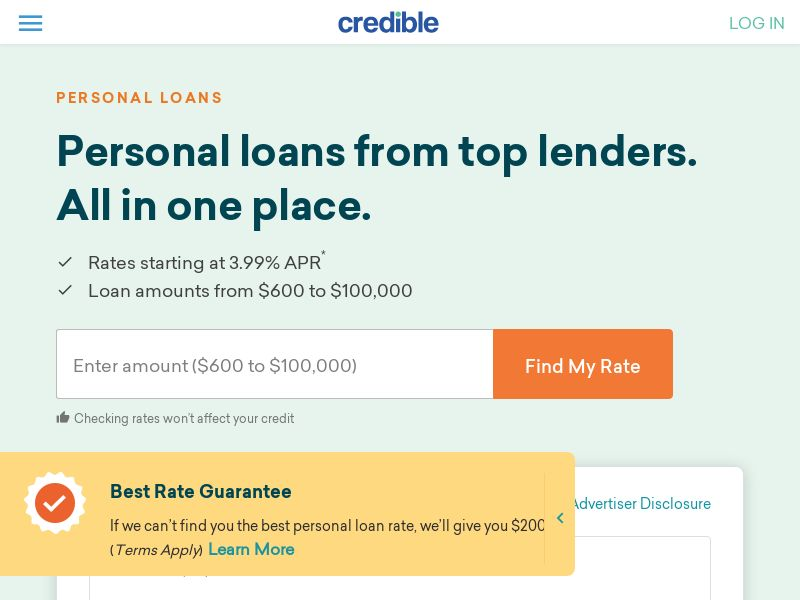 Credible - Personal Loans - CPL - [US]