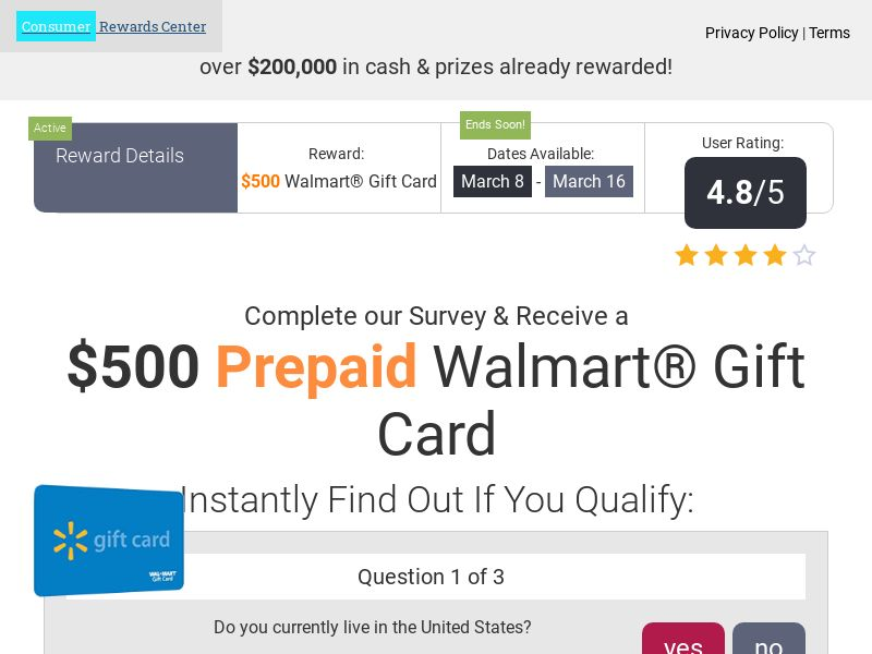 Incent - Email Submit CRC Walmart - US