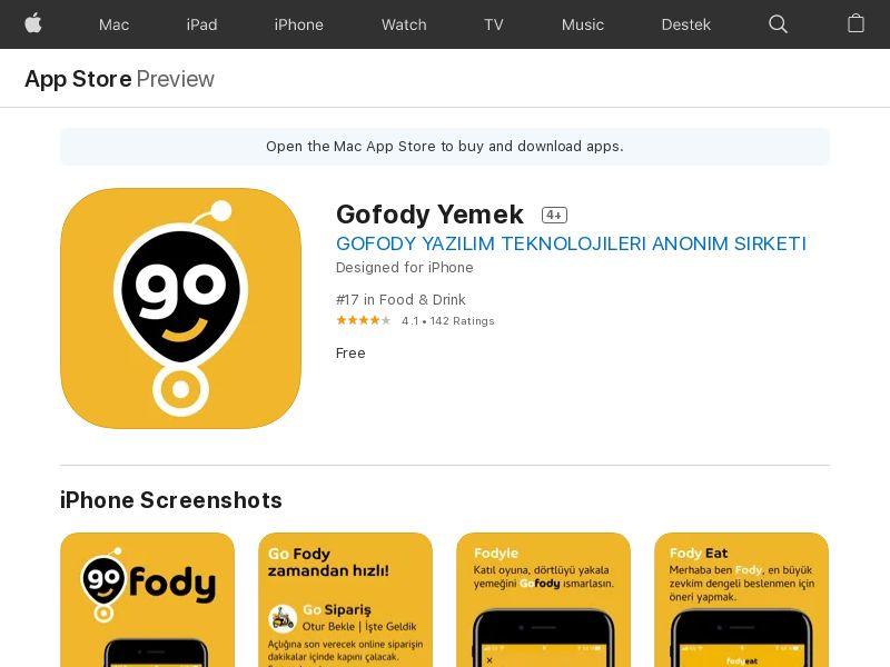 Gofody Yemek OM - iOS (TR) (CPR)