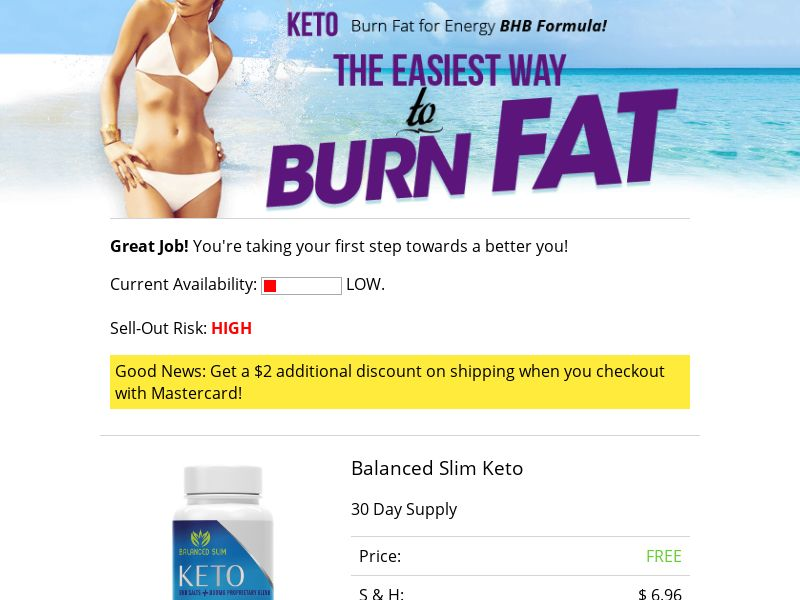 Balanced Slim Keto - Trial - US - Diet (Direct to Checkout)