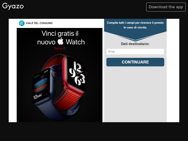 Viale - Win Apple Watch Serie 6 (IT) (CPL) (Incent) (Personal Approval)