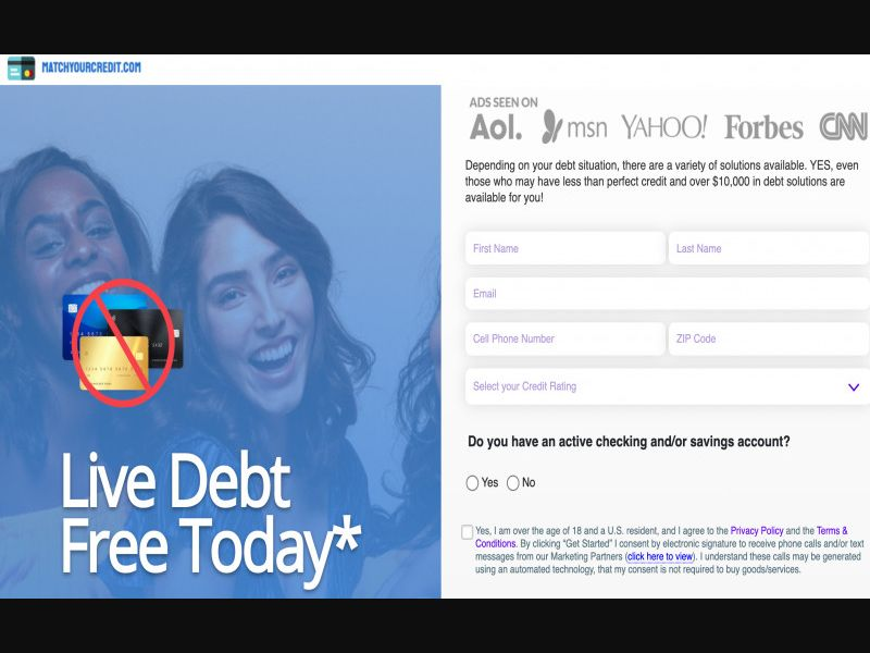 Matchyourcredit.com - Live Debt Free Today* - SOI - CPL