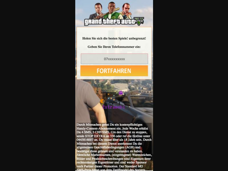 GTA 5 - SMS flow - CH - Online Games - Mobile