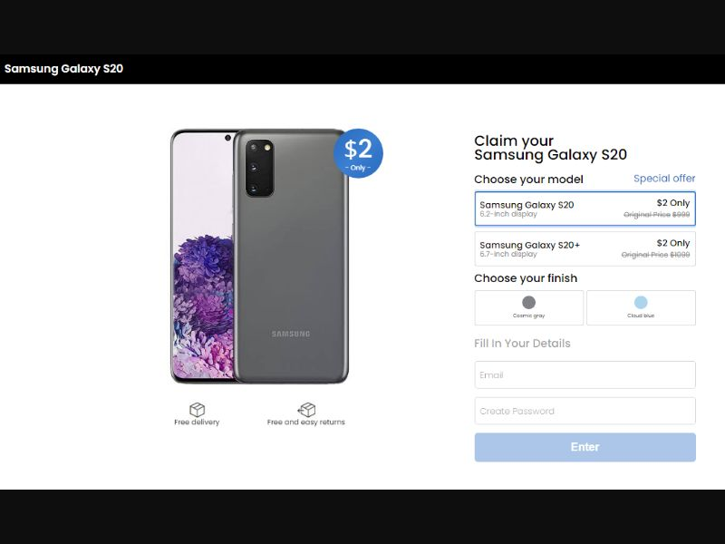 Samsung Galaxy S20 [Milti-GEO] - CC Submit