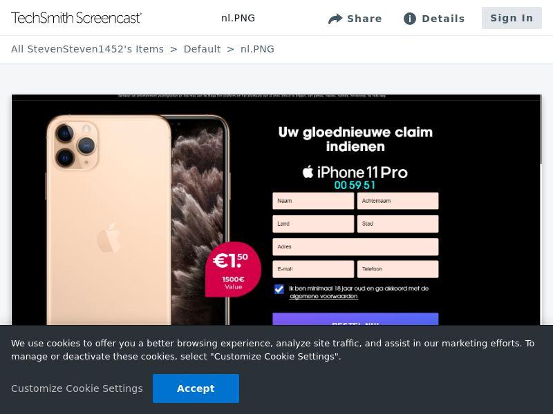 iPhone 11 Plus - CC - NL (NL), [CPA]