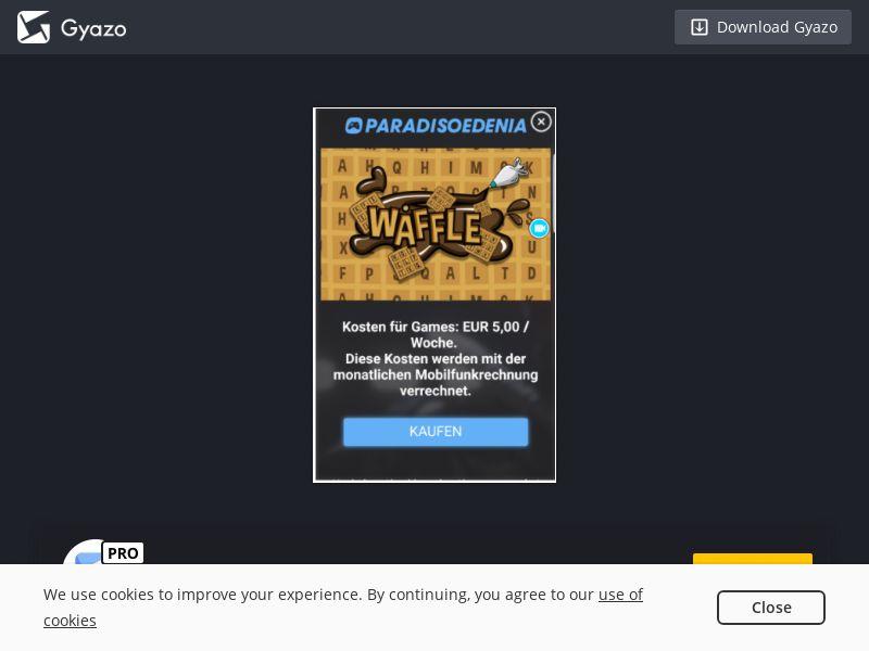 Kaka Waffle Games AT H3G PIN
