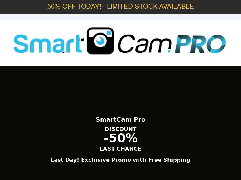 SmartCam Pro - 50% Off Limited Time Offer