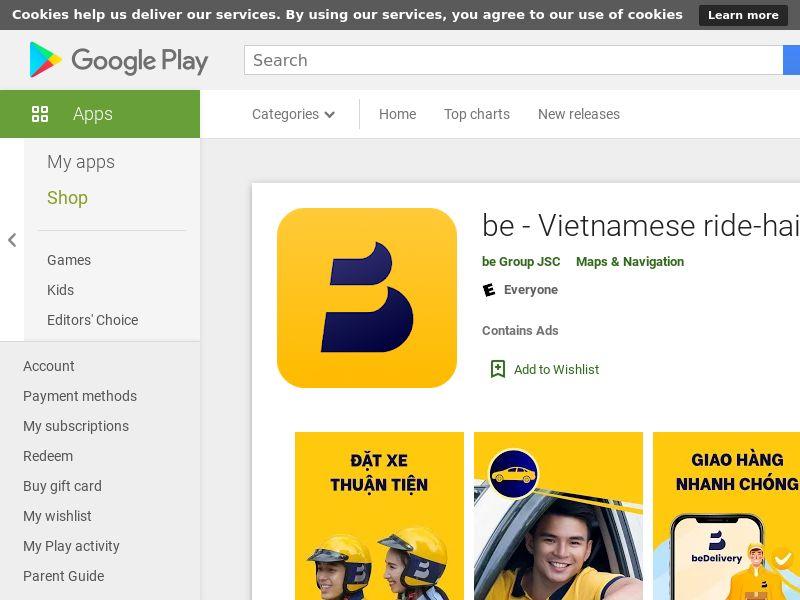 be - Vietnamese ride-hailing app