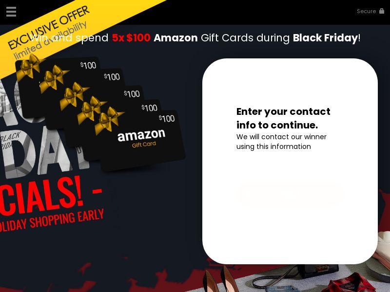 11429) [WEB+WAP] Win a Amazon gift card black friday edition - US - CPL